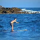 Paddle Boarding At Rockpile Beach by K D Graves Photography
