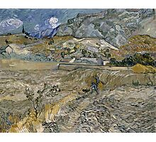 Vincent Van Gogh - Landscape At Saint-Remy - Enclosed Field With Peasant 1889 Photographic Print
