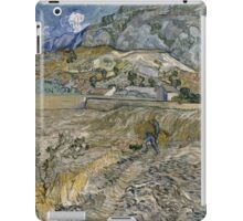 Vincent Van Gogh - Landscape At Saint-Remy - Enclosed Field With Peasant 1889 iPad Case/Skin