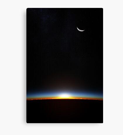 Earth sunrise through atmoshere Canvas Print