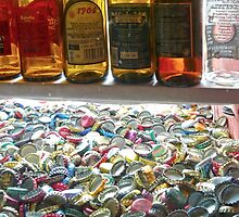 Madrid - Beer bottles and bottlecaps by Michelle Falcony