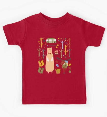 woodland forest Kids Tee