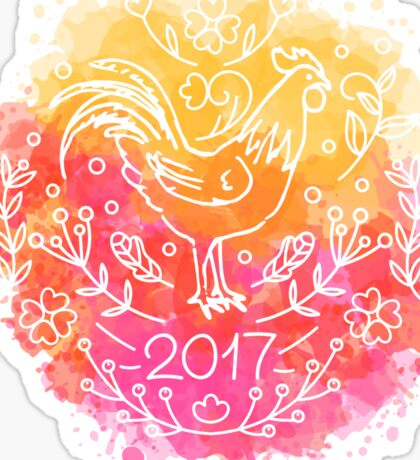 2017 Chinese New Year of the Rooster Sticker