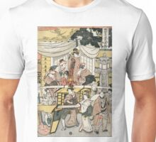 A brief view of the restaurant Ebi-ya in Oji - Tsukimaro Kitagawa - 1802 Unisex T-Shirt