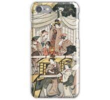 A brief view of the restaurant Ebi-ya in Oji - Tsukimaro Kitagawa - 1802 iPhone Case/Skin