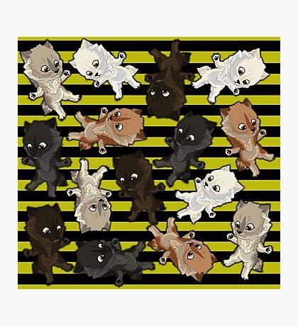 Topsy turvy Werepups - yellow Photographic Print