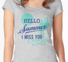 Hello Summer, I miss you Women's Fitted Scoop T-Shirt