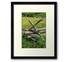Aged Fence Framed Print