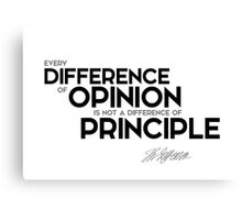 every difference of opinion is not a difference of principle - jefferson Canvas Print