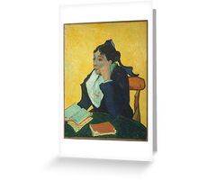 Vincent Van Gogh - Larlesienne, Portrait Of Madame Ginoux, 1888-89 Greeting Card