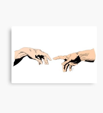The Creation of Adam - Comic Book, Color. Canvas Print