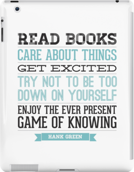 Hank Green Quote by laurenschroer