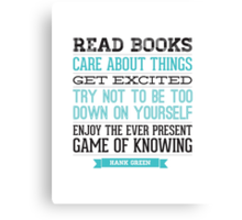 Hank Green Quote Canvas Print