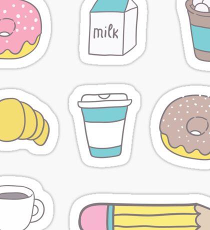 Coffee pattern Sticker