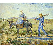 Vincent Van Gogh - Morning, Going To Work, 1890 Photographic Print