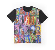Cats Alphabet Graphic T-Shirt
