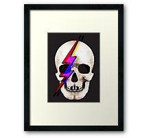 Skull David Bowie Framed Print