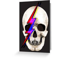 Skull David Bowie Greeting Card