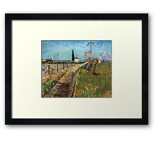 Vincent Van Gogh - Path Through A Field With Willows, 1888 Framed Print