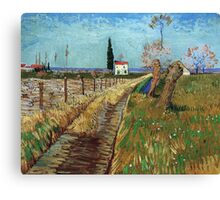 Vincent Van Gogh - Path Through A Field With Willows, 1888 Canvas Print
