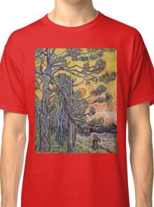 Vincent Van Gogh - Pine Trees Against An Evening Sky, 1889 Classic T-Shirt