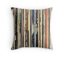Record Collector Beatles Stones Dylan Vinyl  Throw Pillow