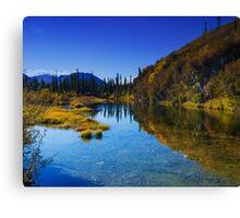 Roadside Pond along Dempster Highway Canvas Print