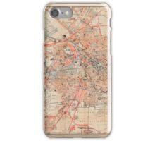 Map Of Berlin 1895 iPhone Case/Skin