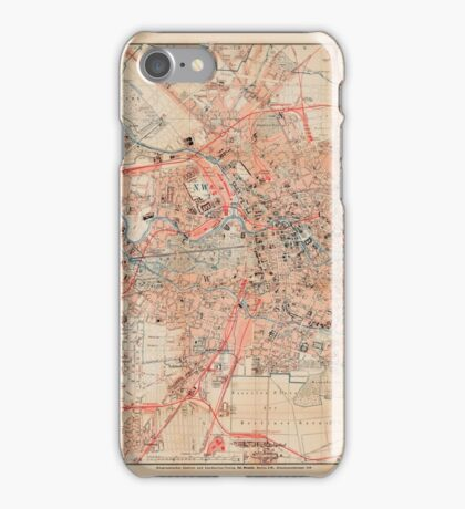 Map Of Berlin 1895 iPhone Case/Skin