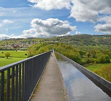 Looking Along The Top Of The Pontcysyllte Aqueduct  by relayer51