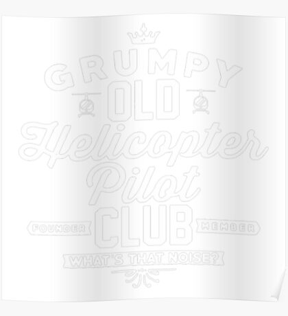 Helicopter Pilot Club Poster