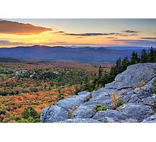 Sunset on the Great North Woods of New Hampshire Photographic Print