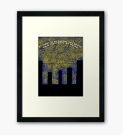 Crazy = Genius Framed Print