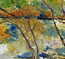 Impressionistic view of the Goulburn River at Trawool, Vic, Aust. by Margaret Morgan (Watkins)