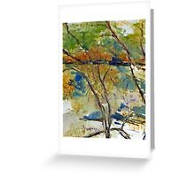Impressionistic view of the Goulburn River at Trawool, Vic, Aust. Greeting Card