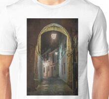 Spanish village street at Night. Cordoba Unisex T-Shirt