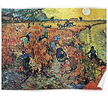 Vincent Van Gogh - Red Vineyards  Poster