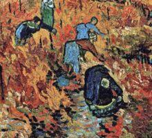 Vincent Van Gogh - Red Vineyards  Sticker