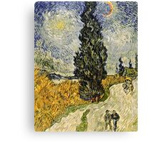 Vincent Van Gogh - Road With Cypresses 1890  Canvas Print