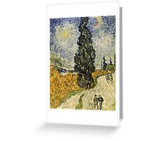 Vincent Van Gogh - Road With Cypresses 1890  Greeting Card