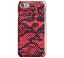 Red Faux Leather Snakeskin iPhone Case/Skin
