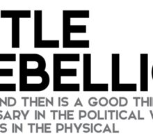 little rebellion is a good thing - jefferson Sticker