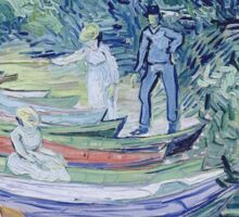 Vincent Van Gogh - Rowing Boats On  Banks Of  Oise, 1890 Sticker
