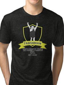 It's Always Sunny in Philadelphia Frank Reynolds Trashman Wrestling Print Tri-blend T-Shirt