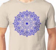 Blue Watercolor Mandala Unisex T-Shirt