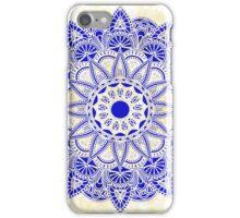 Blue Watercolor Mandala iPhone Case/Skin