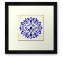 Blue Watercolor Mandala Framed Print