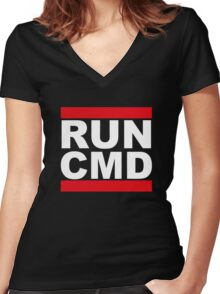 Run CMD Women's Fitted V-Neck T-Shirt
