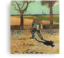 Vincent Van Gogh - Self Portrait On  Road To Tarascon ( Painter On His Way To Work), 1888 Canvas Print