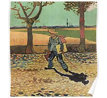 Vincent Van Gogh - Self Portrait On  Road To Tarascon ( Painter On His Way To Work), 1888 Poster